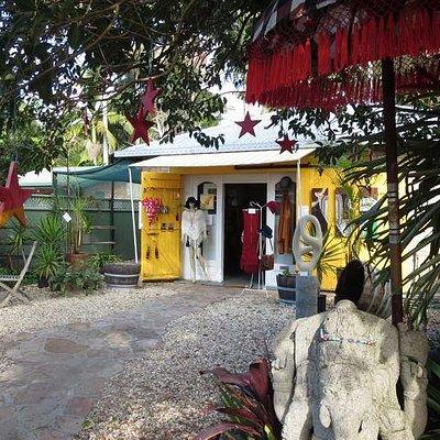Outdoor entry area / sculpture garden