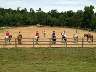 Group lesson at Grove River Ranch with Cindy Farmer