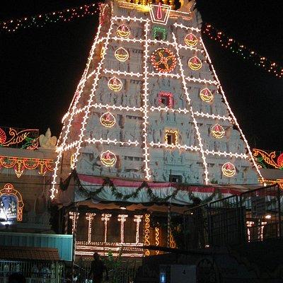 Thirupathi Temple Night view