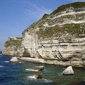 falaises vues depuis le bateau