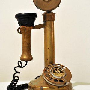 Fawlty Towers Reception Phone. Photo Steve Ullathorne