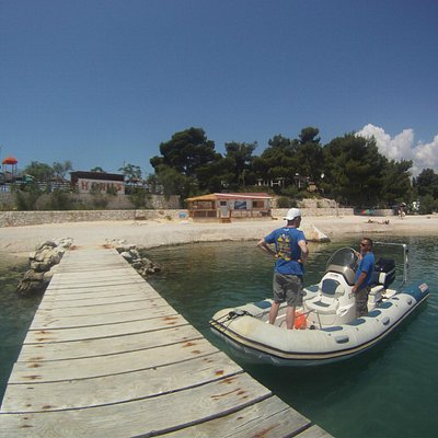 Dive center, crew and speed boat..
