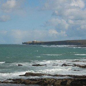 looking towards Noss Head across Sinclair's Bay