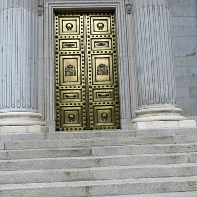 The formal entrance : only opened for the King on State occasions