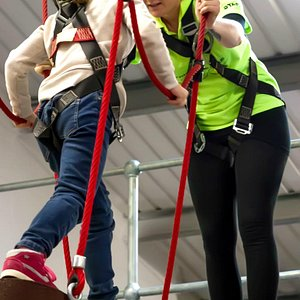 All our activities are supervised by qualified ropes course instructors
