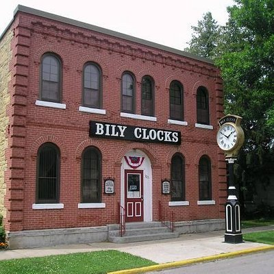 The Bily Brothers moved their clock collection from their farm shed, where the collection was sh