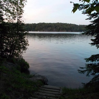 view of the lake from our campsite