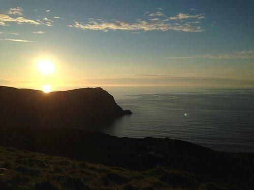 tramonto dalla piazzole panoramica di Horn Head