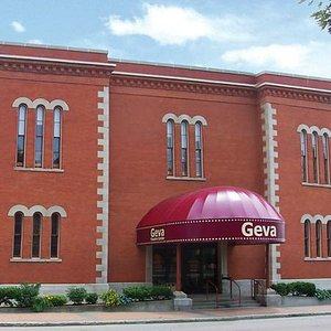 The front entrance to Geva Theatre Center