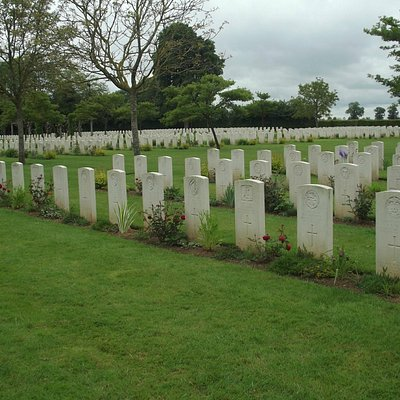 The beautifully kept graves are a credit to the CWGC