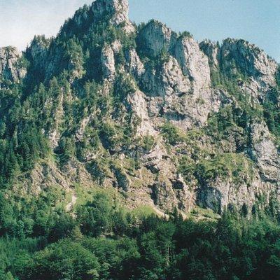 Laudachsee mit Katzenstein im Hintergrund