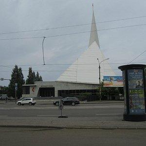 Estonian Methodist Church´s  facade is far from the traditional church building
