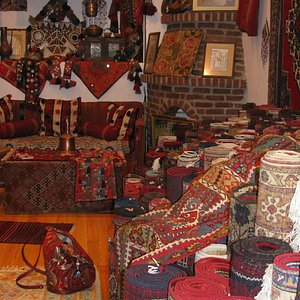 lots to look at, rugs and other tribal parafernalia