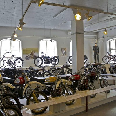 Part of the motor bike hall