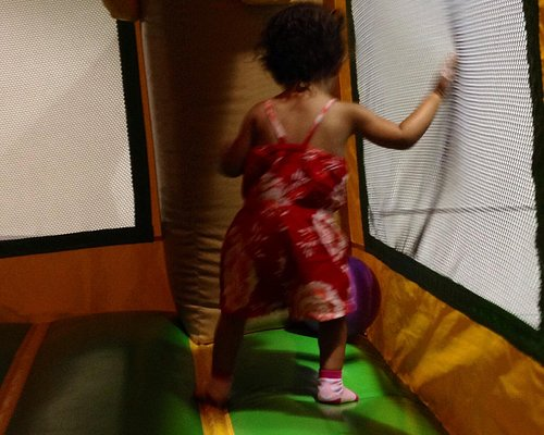 Small bouncy houses for the young ones