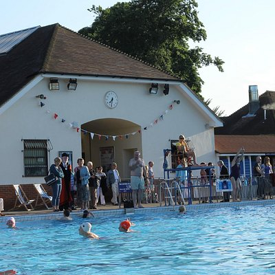 Guildford Lido at its 80th birthday party in 2013.
