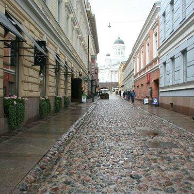 Old paving on Sofiankatu (the street museum)