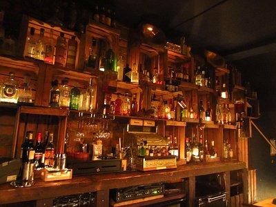 Their liquor display
