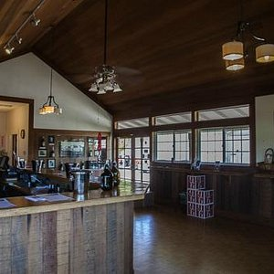 Interior of the winery tasting room
