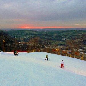 The sun sets over Mountain Creek