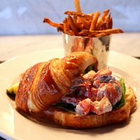 Succulent local lobster in a fresh-baked croissant