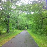 One if the best paved bike riding trails I've seen.