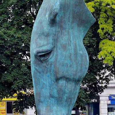 Still Water Horse Head Statue in London