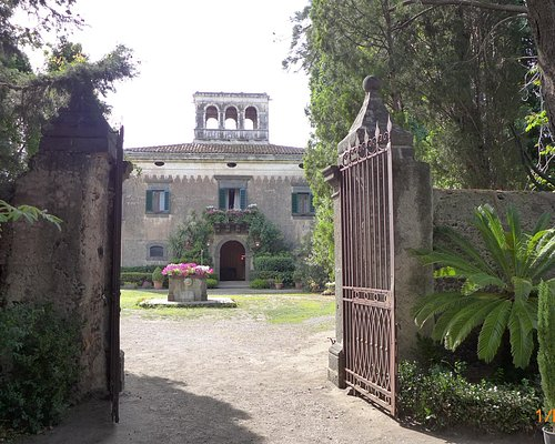 The iron gate leading to the castle