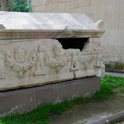 Sarcophagus outside museum