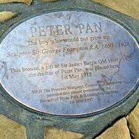 Peter Pan statue plague