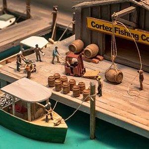 Diorama of Historic Cortez Waterfont