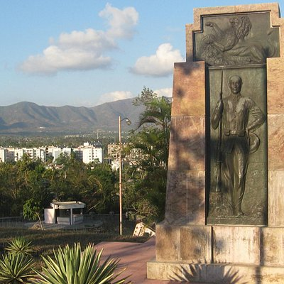 Spanish monument on San Juan Heights
