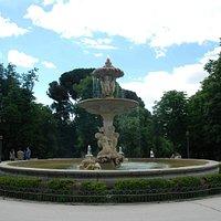 Unique Artichoke Fountain at Retiro Park