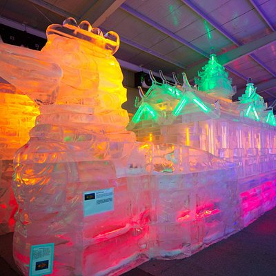 Ice sculptures inside