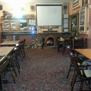 the back room, a bit quieter than the front, with lots of character