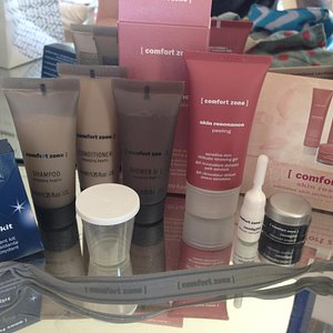 Luxurious Comfort Zone products used + sold in spa, smelled lovely!