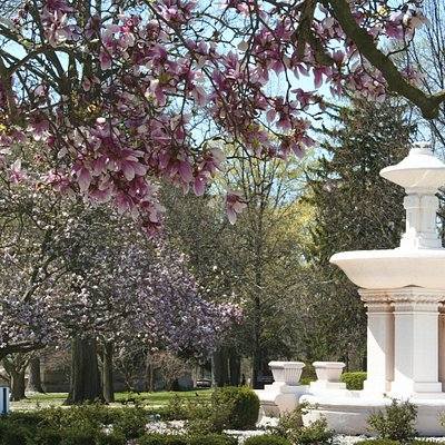 """Among many beautiful sites, the fountain serves as the """"centerpiece"""" of the grounds."""