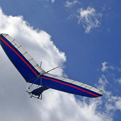 Hang Glider at the Mt. Holyoke Summit House