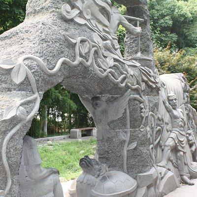 Granite monument to the turtle dragon