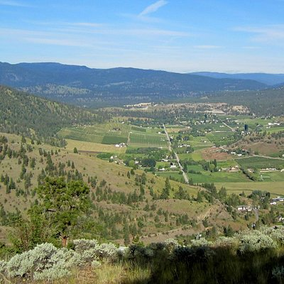 Looking West over Prairie Valley from the top of Giant's Head, Summerland, BC