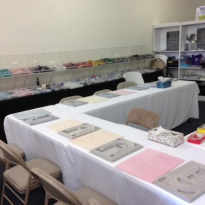 Class room and bead tables