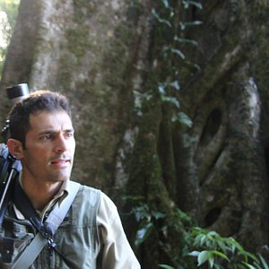 Marcos pondering the cloud forest