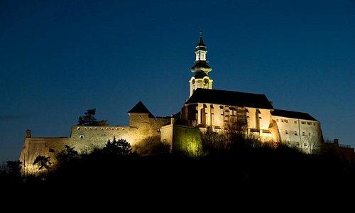 Nitra castle at night