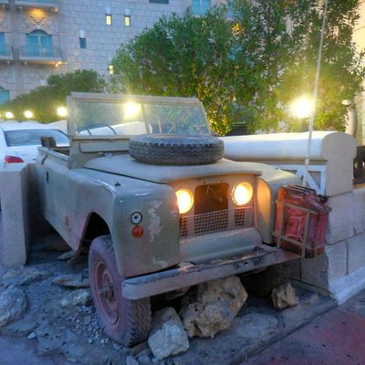 Decorative Jeep at the entrance