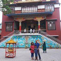Buddhist Shakya School is located adjacent to the Temple!