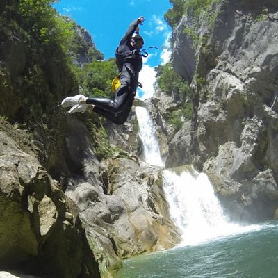 Canyoning on river Cetina (Omis, Croatia)