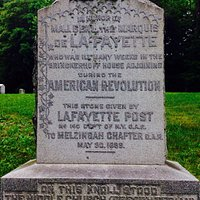 Lafayette marker at an old Cemetery in Fishkill