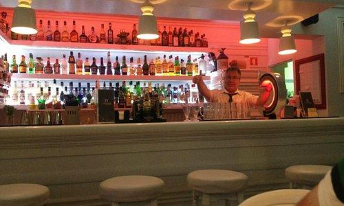 Michael at his bar
