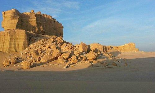 A closer look at the plateau at Al Fayyum Desert