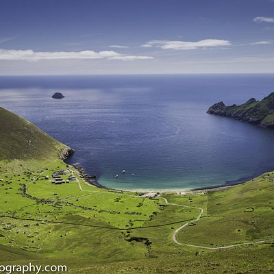 View of Village Bay on Hirtha in the St Kilda archipelago